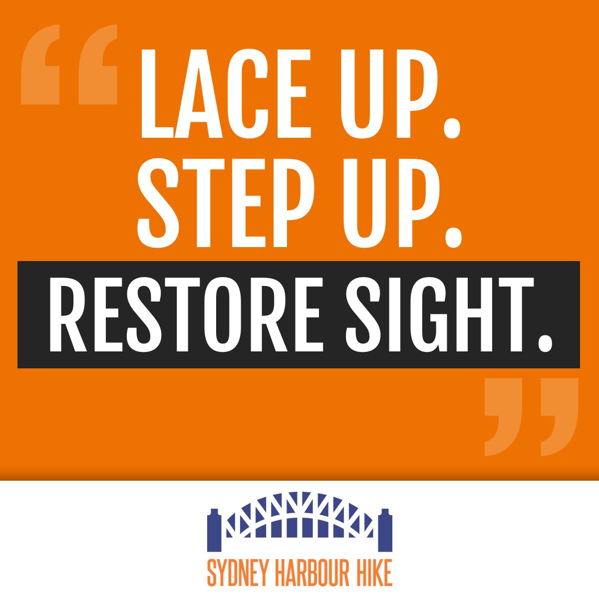 Lace Up. Step up.